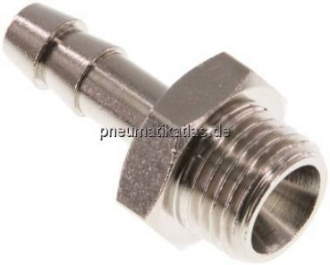 "Gewindetülle G 1/4""-6mm, 16 bar Messing vernickelt"