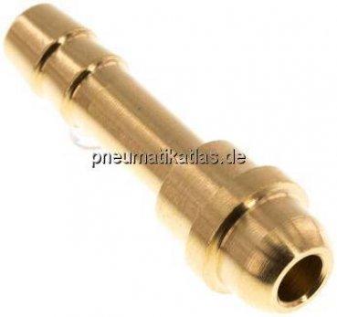 1x Schlauchverbinder Tülle für Schlauch-Innen Ø 6 mm aus Messing #