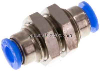 Pneumatik IQS MINI Schott-Steckverbindung Schott Verbinder Verschraubung