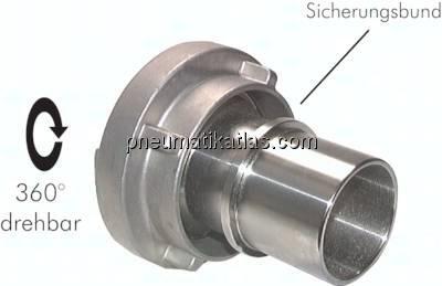 """3/"""" auf 2/"""" Aluminum Übergangsstück Storz B auf C Kupplung Schnellkupplung"""