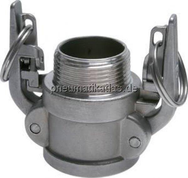 Messing Werkstoff:Messing Gewinde:R 1-1//4 DN:32 Kamlock-Stecker 1-1//4 AG R 1-1//4 mm PN:18 F